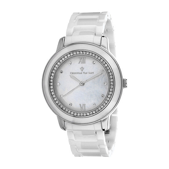 Christian Van Sant Womens White Bracelet Watch - Cv3214