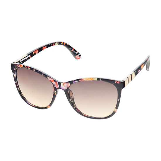 a.n.a Black Floral Cateye Womens Sunglasses