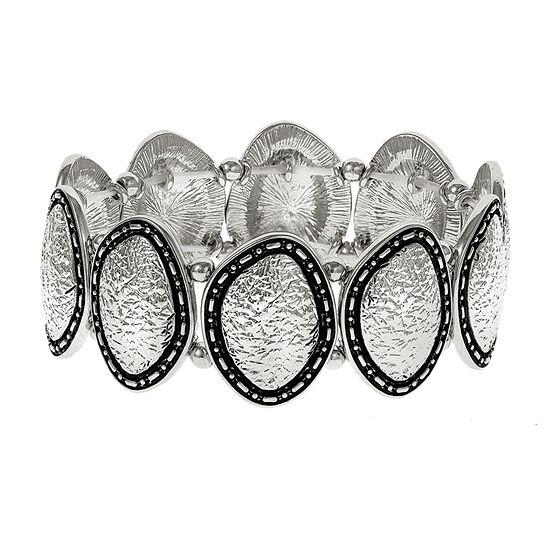 EL by Erica Lyons Silver Tone Stretch Bracelet