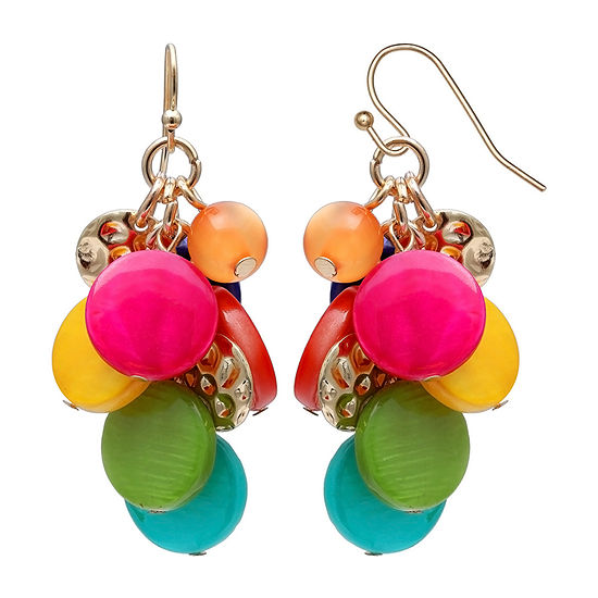 Mixit Multi Color Cluster Drop Earrings