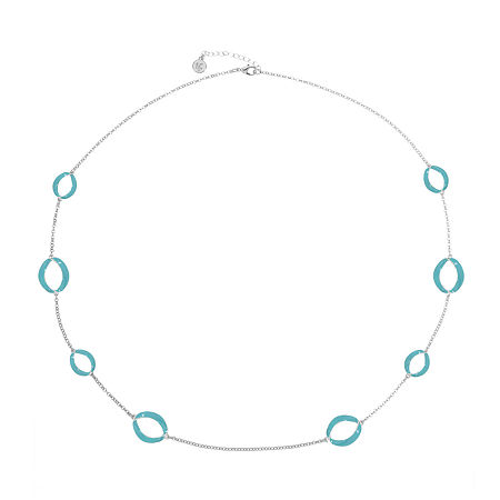 Liz Claiborne 34 Inch Cable Strand Necklace, One Size , Blue