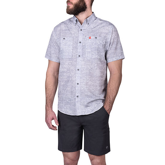 American Outdoorsman Mens Short Sleeve Cooling Moisture Wicking Button-Down Shirt