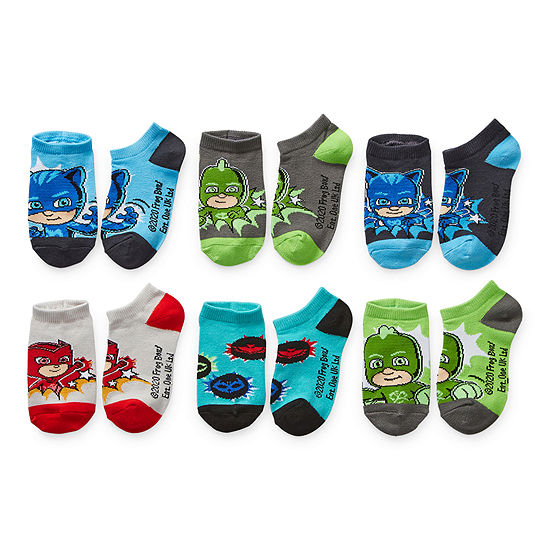 Little Kid / Big Kid Boys 6 Pair No Show Socks - Size 4-6
