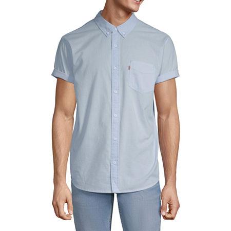 Levi's Mens Short Sleeve Button-Down Shirt, Xx-large , Blue