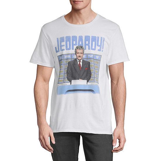 Vintage Alex Jeopardy! Mens Crew Neck Short Sleeve Graphic T-Shirt