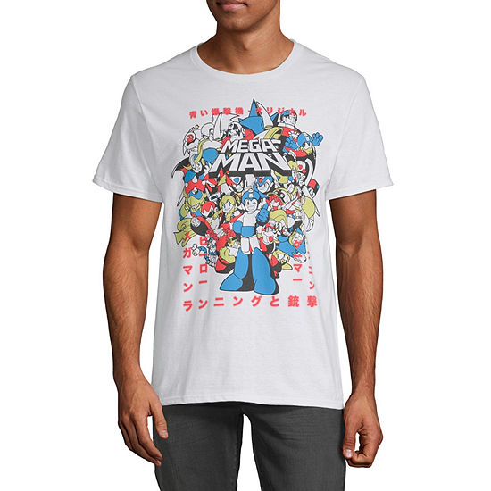 Mega Man Mens Crew Neck Short Sleeve Graphic T-Shirt