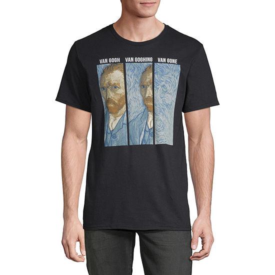 Van Gogh Van Gone Mens Crew Neck Short Sleeve Humor Graphic T-Shirt
