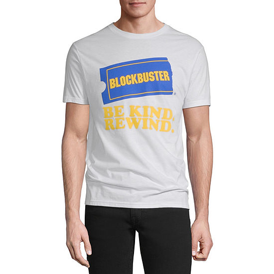 Blockbuster Be Kind Rewind Mens Crew Neck Short Sleeve Graphic T-Shirt