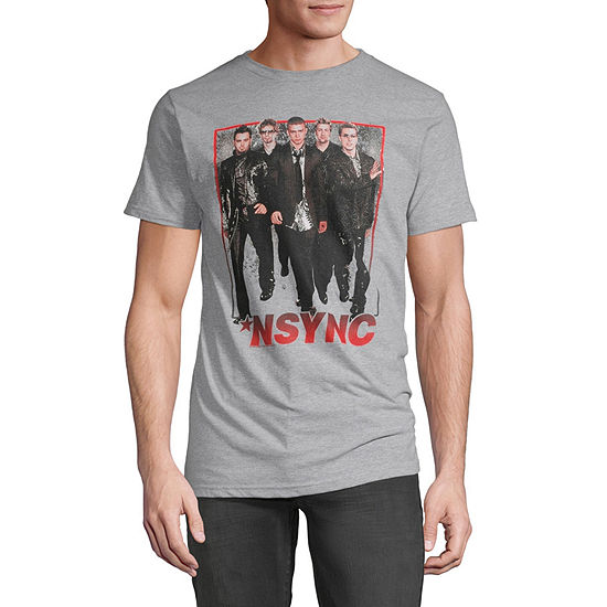 Nsync Mens Crew Neck Short Sleeve Music Graphic T-Shirt