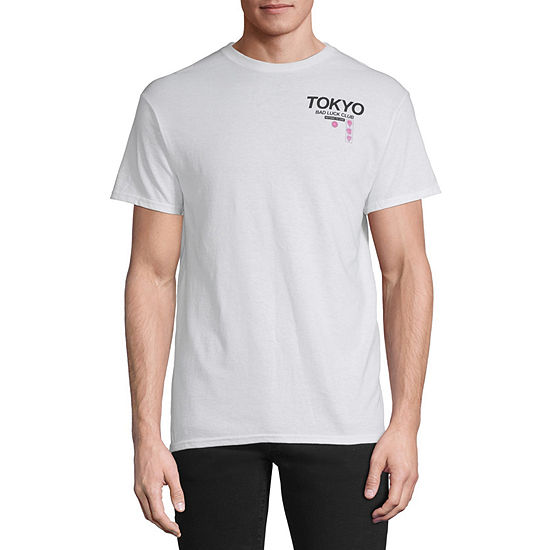 Tokyo Bad Luck Club Mens Crew Neck Short Sleeve Graphic T-Shirt