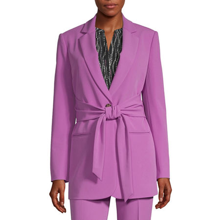 Worthington Womens Regular Fit Twill Blazer, Small , Purple