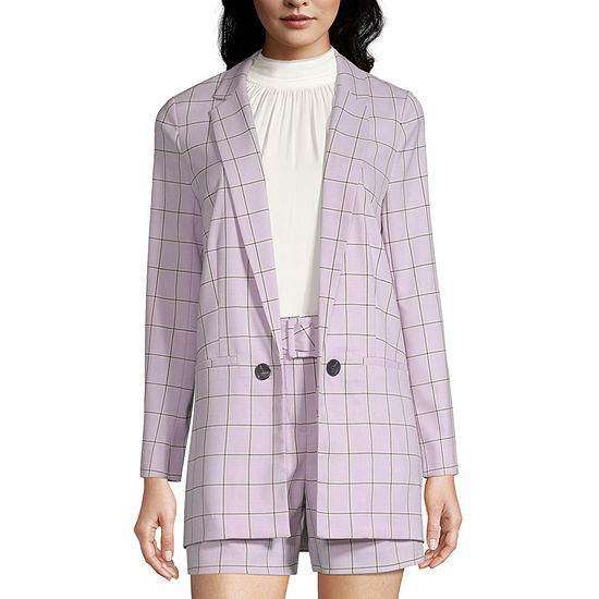 Worthington Womens Classic Fit Double Breasted Blazer