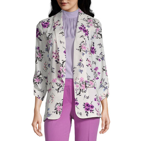 Worthington Womens Regular Fit Blazer, Xx-large , White