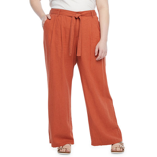 a.n.a-Plus Womens Belted Wide Leg Pant
