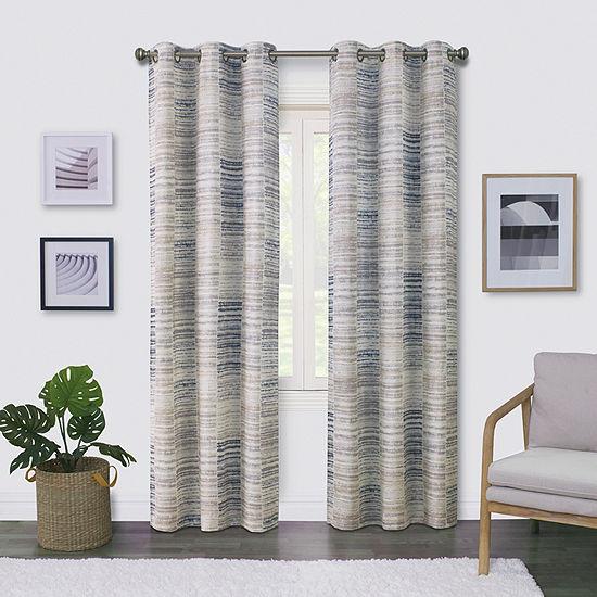 Regal Home Surfaces Tiles Light-Filtering Grommet-Top Single Curtain Panel