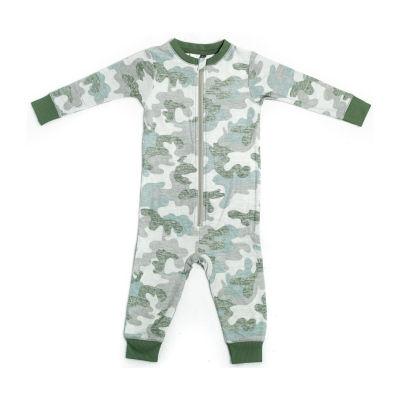 Jaclyn Camo Family Sleepwear Baby Unisex Knit Long Sleeve One Piece Pajama