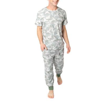 Jaclyn Camo Family Sleepwear Mens Pant Pajama Set 2-pc. Short Sleeve