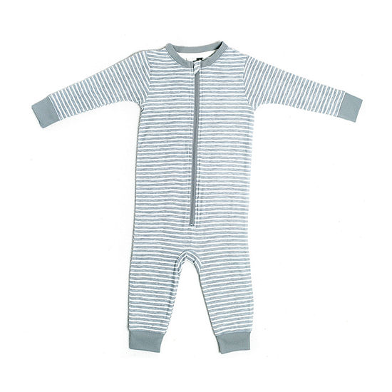Jaclyn True Stripe Family Sleep Baby Unisex Knit Long Sleeve One Piece Pajama