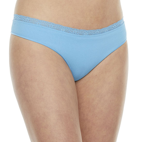 Flirtitude Seamless With Lace 1 Pair Thong J3235