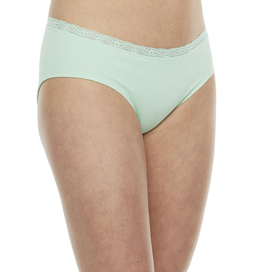 Flirtitude Seamless With Lace 1 Pair Hipster Panty J3236