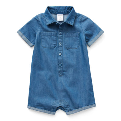 Okie Dokie Baby Boys Short Sleeve Romper