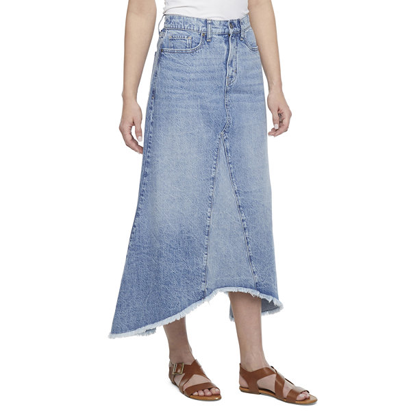 a.n.a Womens High Rise Denim Skirt