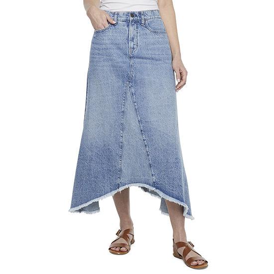 a.n.a Womens High Rise Denim Skirt
