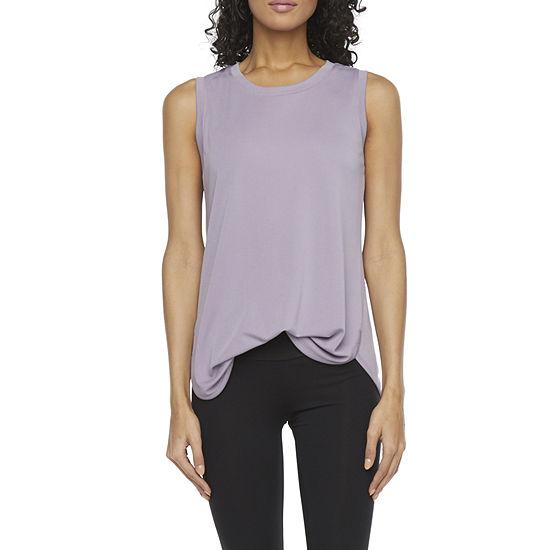 Stylus Shirttail Womens Round Neck Sleeveless Tank Top