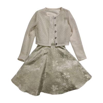 Youngland Little Girls Sleeveless Midi 2-pc. Dress Set