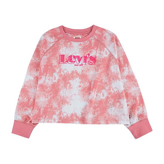 Levi's Big Girls Crew Neck Long Sleeve Sweatshirt