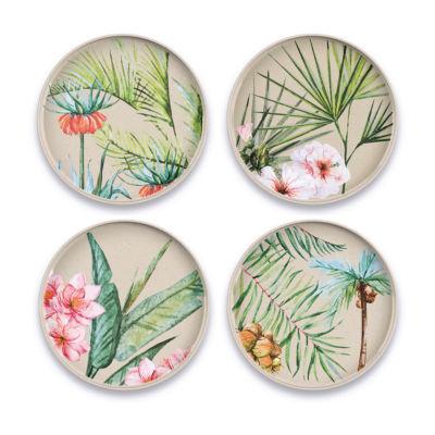 Tarhong Palermo Tropical Bamboo 4-pc. Salad Plate