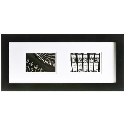 "Gallery Solutions Matted 2-Opening 4x6"" Collage Picture Frame"