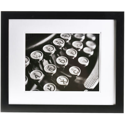 "Gallery Solutions Matted 11x14"" Picture Frame"