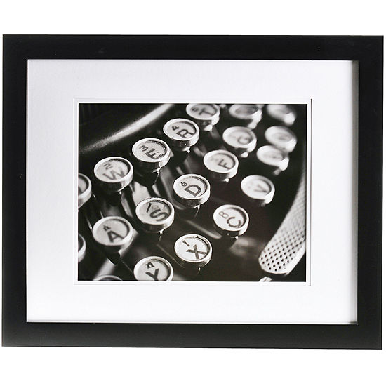 Gallery Solutions 20x16 Matted Wood Picture Frame