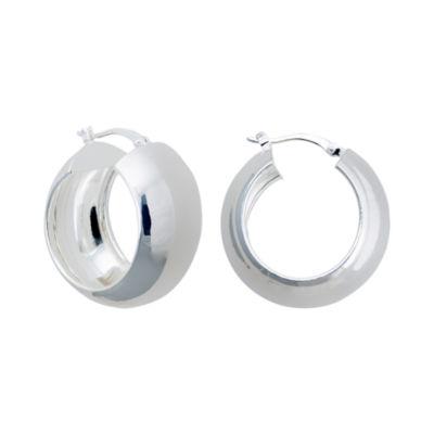 Sterling Silver Chubby Hoop Earrings