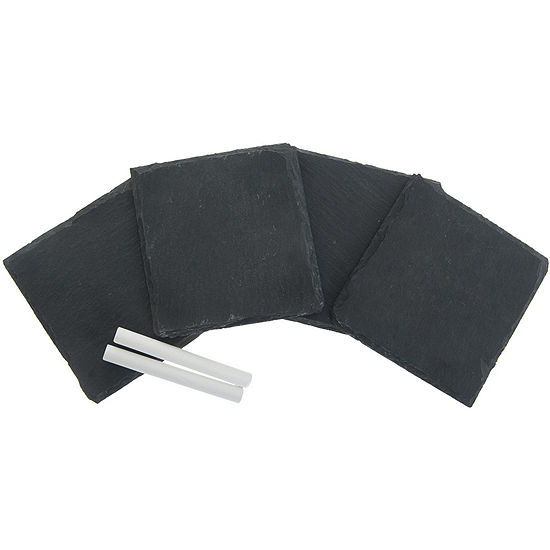 Thirstystone® Slate with Chalk Coasters Gift Set