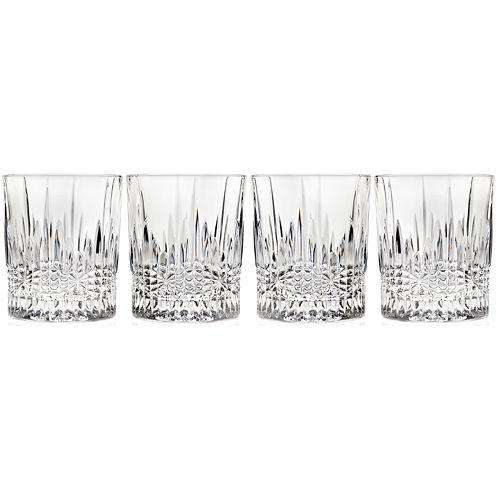 Regency by Godinger Set of 4 Crystal Double Old-Fashioned Glasses