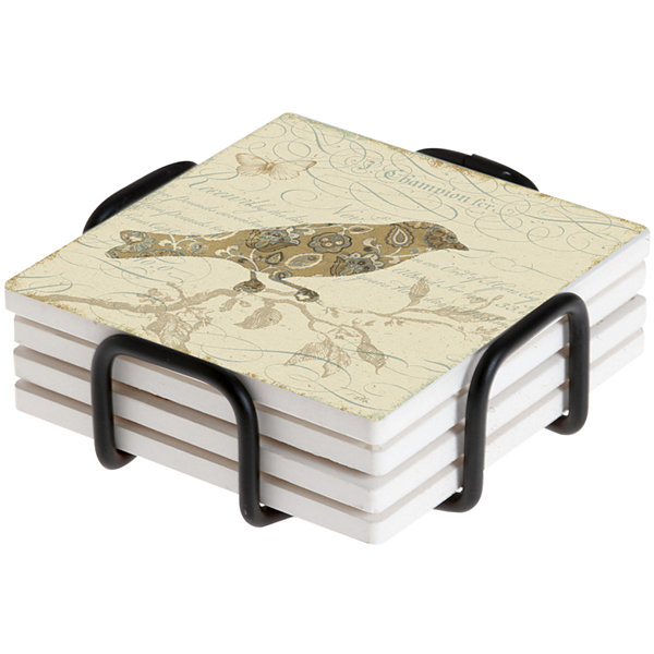 Thirstystone® Nature Pattern Set of 4 Coasters