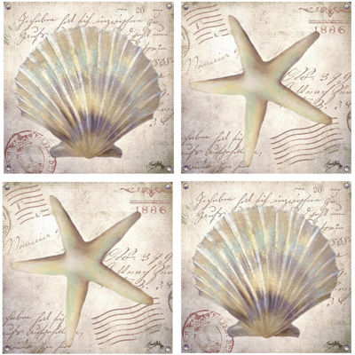 Thirstystone® Beach Shells Set of 4 Coasters