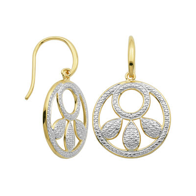 Classic Treasures™ Diamond-Accent Cutout Circle Drop Earrings