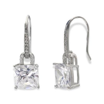 Silver Enchantment™ Cushion-Cut Cubic Zirconia Sterling Silver Drop Earrings