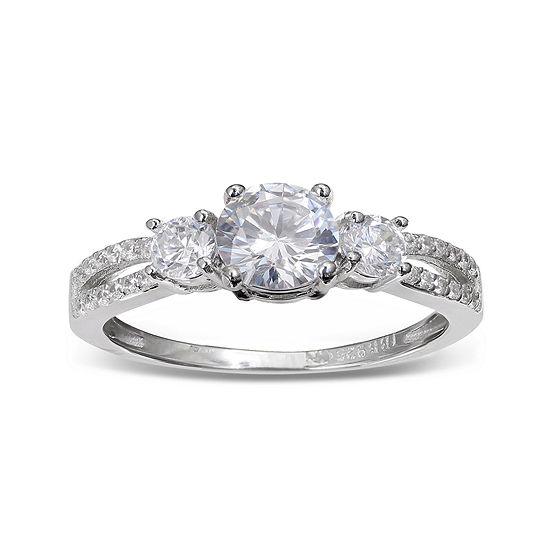 Silver Enchantment™ Cubic Zirconia Sterling Silver Split-Shank Ring