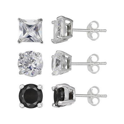 Silver Enchantment™ Cubic Zirconia 3-pr. Earrings
