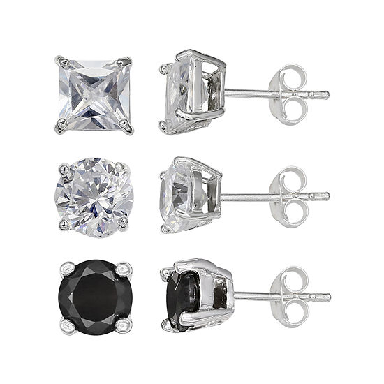 Silver Enchantment™ Cubic Zirconia 3-pr. Earrings