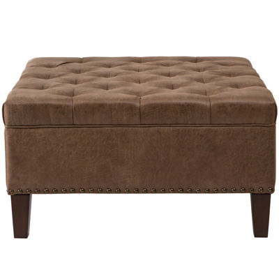 Madison Park Joan Tufted Square Cocktail Ottoman