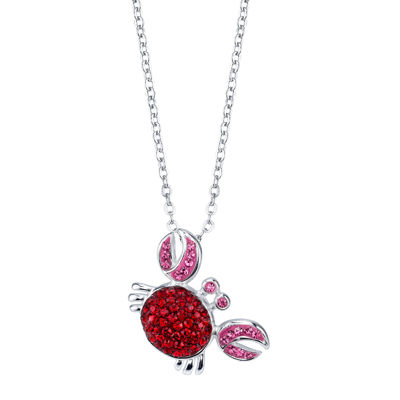 Crystal Sophistication™ Crystal and Sterling Silver Crab Pendant Necklace