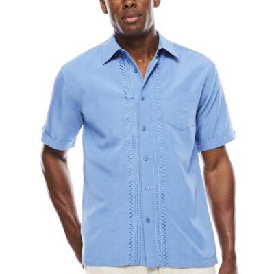The Havanera Co.® Short-Sleeve Geo Placket with Pocket Shirt