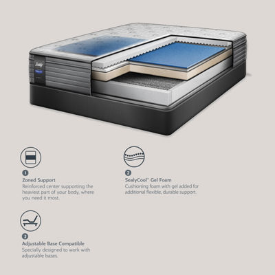 Sealy Performance™ Gilwood LTD Cusion Firm Eurotop Mattress + Box Spring