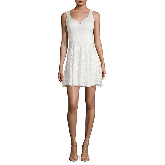 B. Darlin Sleeveless Party Dress-Juniors