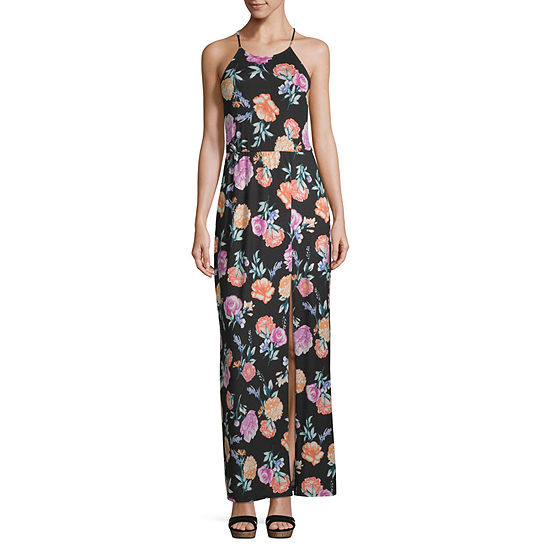 by&by Sleeveless Floral Maxi Dress-Juniors